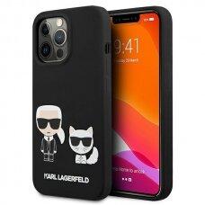 "Originalus Karl Lagerfeld dėklas KLHCP13XSSKCK iPhone 13 Pro Max 6,7"" Juodas Silicone Karl & Choupette"