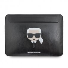 "Dėklas originalus Karl Lagerfeld Sleeve KLCS133KHBK 13"" juodas Ikonik Karl"
