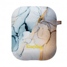 KINGXBAR AIRPODS CASE SILICONE PROTECTIVE BOX FOR AIRPODS HEADPHONES YELLOW MARBLE