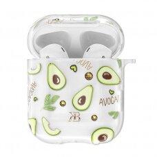 DėklasKingxbar Fruit Airpods Case Protector skirta Airpods 2 / Airpods 1 Skaidrus