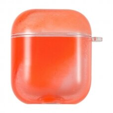 Dėklas iš silikono Kingxbar Galaxy Series Airpods Case-Orange