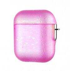 Kingxbar Nebula Airpods Case Protector for AirPods 2 / AirPods 1 rožinis (ctz220)