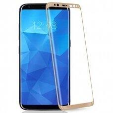 LCD apsauginis stikliukas 3D Perfectionists Samsung G950 S8 lenktas aukso spalvos UCS010