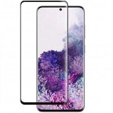 LCD apsauginis stikliukas 3MK Hard Glass Max Finger Print Samsung G998 S21 Ultra juodas