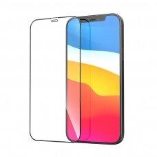 Lcd Apsauginis Stikliukas 5D Cold Carving Apple Iphone 12 Pro Max Juodas