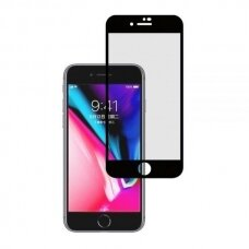 Lcd Apsauginis Stikliukas 5D Cold Carving Apple Iphone 6/6S Juodais Kraštais