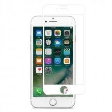 Lcd Apsauginis Stikliukas 5D Cold Carving Apple Iphone 7 Plus/8 Plus Baltais Kraštais