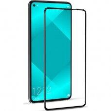LCD apsauginis stikliukas 5D Cold Carving Huawei P40 Lite lenktas juodais kraštais UCS068