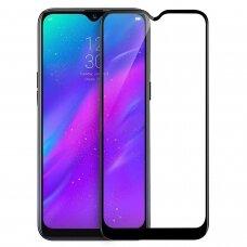 LCD apsauginis stikliukas 5D Cold Carving Samsung A505 A50/A507 A50s/A307 A30s / A305 A30 lenktas juodas UCS031