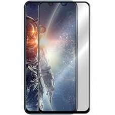Lcd Apsauginis Stikliukas 5D Cold Carving Samsung A705 A70 Lenktas Juodas