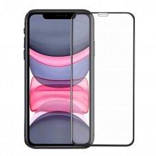 Lcd Apsauginis Stikliukas 5D Full Glue Apple Iphone 12/12 Pro Juodas