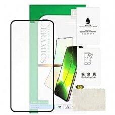 LCD apsauginis stikliukas 5D Full Glue Ceramic Glass Apple iPhone X/XS/11 Pro lenktas juodas