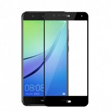 Lcd Apsauginis Stikliukas 5D Full Glue Huawei P10 Lite Lenktas Juodas