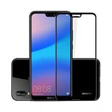 LCD apsauginis stikliukas 5D Full Glue Huawei P20 lenktas juodas UCS076