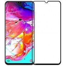 LCD apsauginis stikliukas 5D Full Glue Samsung A105 A10 lenktas juodas UCS034