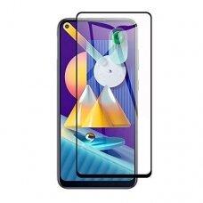 Lcd Apsauginis Stikliukas 5D Full Glue Samsung A21S Lenktas Juodas