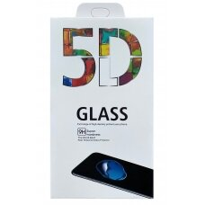 LCD apsauginis stikliukas 5D Full Glue Samsung A226 A22 5G lenktas juodas