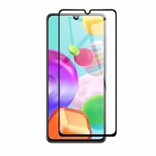 Lcd Apsauginis Stikliukas 5D Full Glue Samsung A31 Lenktas Juodas