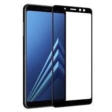 Lcd Apsauginis Stikliukas 5D Full Glue Samsung A530 A8 2018 Lenktas Juodas