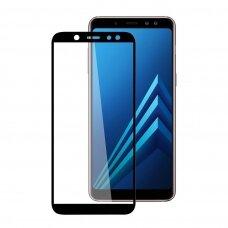 LCD apsauginis stikliukas 5D Full Glue Samsung A605 A6 Plus 2018 lenktas juodas UCS038