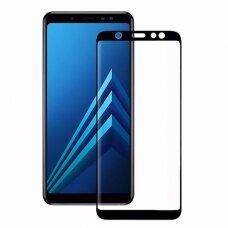 Lcd Apsauginis Stikliukas 5D Full Glue Samsung A750 A7 2018 Lenktas Juodas