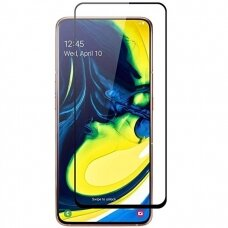 Lcd Apsauginis Stikliukas 5D Full Glue Samsung A805 A80/A90 Lenktas Juodas