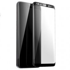 Lcd Apsauginis Stikliukas 5D Full Glue Samsung G965 S9 Plus Lenktas Juodas