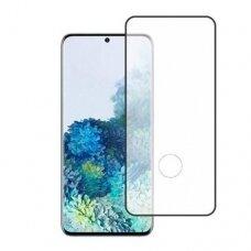 Lcd Apsauginis Stikliukas 5D Full Glue Samsung G986 S20 Plus/S11 Lenktas Juodas Su Išpjovimo