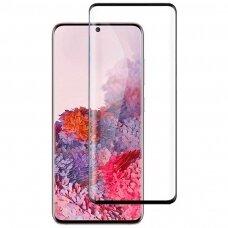 LCD apsauginis stikliukas 5D Full Glue Samsung G988 S20 Ultra/S11 Plus lenktas juodas be išpjovimo UCA001