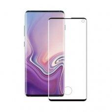 Lcd Apsauginis Stikliukas 5D Full Glue Samsung G988 S20 Ultra/S11 Plus Lenktas Juodas Su Išpjovimu