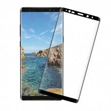 Lcd Apsauginis Stikliukas 5D Full Glue Samsung N950 Note 8 Lenktas Juodas