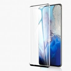 LCD apsauginis stikliukas 5D Full Glue Samsung Note 10 Lite/N770/A81 lenktas juodas UCS020