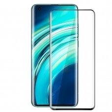 LCD apsauginis stikliukas 5D Full Glue Xiaomi Mi 10/10 Pro lenktas juodais kraštais UCS106