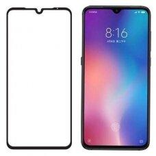 Lcd Apsauginis Stikliukas 5D Full Glue Xiaomi Mi 9 Lenktas Juodais Kraštais