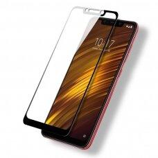 LCD apsauginis stikliukas 5D Full Glue Xiaomi Pocophone F1 lenktas juodais kraštais UCS109