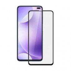 Lcd Apsauginis Stikliukas 5D Full Glue Xiaomi Redmi K30 Lenktas Juodais Kraštais