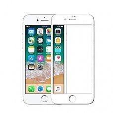 Lcd Apsauginis Stikliukas 5D Perfectionists Apple Iphone 7 Plus/8 Plus Lenktas Baltais Kraštais