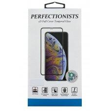 LCD apsauginis stikliukas 5D Perfectionists Samsung S21 lenktas juodas