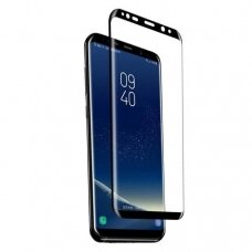 LCD apsauginis stikliukas 9D Curved Full Glue Samsung G955 S8 Plus juodas UCS009