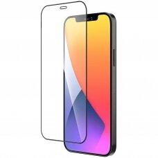 Lcd Apsauginis Stikliukas 9D Full Glue Apple Iphone 12 Mini Juodas