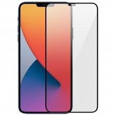 Lcd Apsauginis Stikliukas 9D Full Glue Apple Iphone 12 Pro Max Juodas