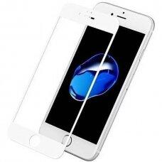LCD apsauginis pilnai dengiantis stikliukas 9D Full Glue Apple iPhone 7/8/SE2 baltais kraštais UCS062