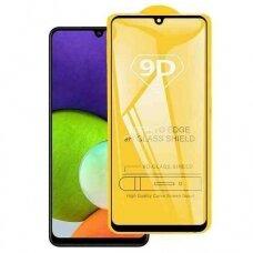 LCD apsauginis stikliukas 9D Full Glue Samsung A225 A22 4G juodas