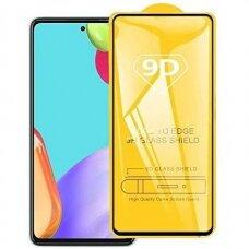 LCD apsauginis stikliukas 9D Full Glue Samsung A52/ A52s juodas
