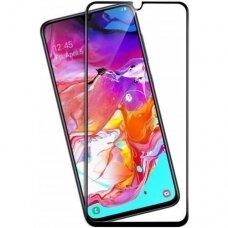 Lcd Apsauginis Stikliukas 9D Full Glue Samsung A705 A70 Juodas