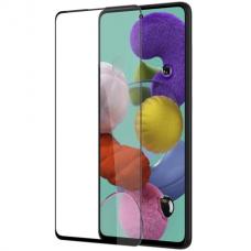 LCD apsauginis stikliukas 9D Full Glue Samsung A715 A71 juodas UCS024