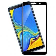 Lcd Apsauginis Stikliukas 9D Full Glue Samsung A750 A7 2018 Juodas