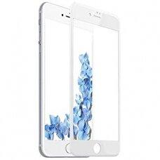 Lcd Apsauginis Stikliukas Adpo 3D Iphone 6 Lenktas Baltais Kraštais
