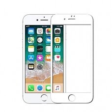 LCD apsauginis stikliukas Adpo 3D iPhone 7 lenktas baltais kraštais UCS062