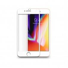 Lcd Apsauginis Stikliukas Adpo 3D Iphone 7 Plus Lenktas Baltas